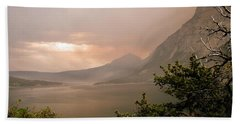 St Mary Lake In The Smoke Beach Towel