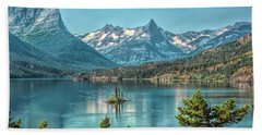 St Mary Lake Beach Towel