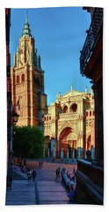 St Mary's Cathedral - Catholic Cathedral In Toledo, Chair Of The Primate Of Spain, The Main Cathedra Beach Towel