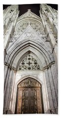 St Patrick's Cathedral Door  Beach Sheet