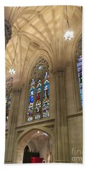 St. Patricks Cathedral Interior Beach Sheet