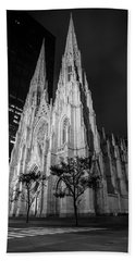 St Patricks Cathedral Nyc Black And White  Beach Sheet