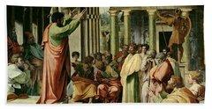 St. Paul Preaching At Athens  Beach Towel