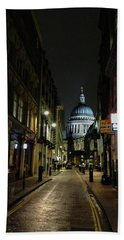 St. Pauls By Night Beach Towel