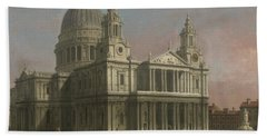 St. Paul's Cathedral Beach Towel by Giovanni Antonio Canaletto
