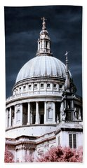Beach Towel featuring the photograph St. Paul's Cathedral's Dome, London by Helga Novelli