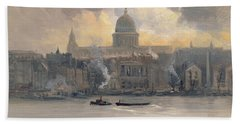 St Paul's From The River Beach Towel