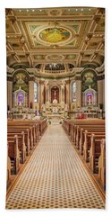 Beach Sheet featuring the photograph St Peter The Apostle Church Pa by Susan Candelario