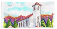 St. Peter's Catholic Church, Fayette, Mi Beach Towel