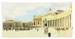 St. Peter's Square The Vatican Beach Towel