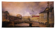 St Petersburg Canal Beach Towel