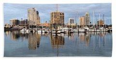 St Petersburg Marina Beach Towel