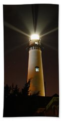 Beach Sheet featuring the photograph St Simons Island Lighthouse by Kathryn Meyer