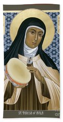St. Teresa Of Avila - Rltoa Beach Towel