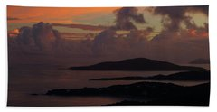 St Thomas Sunset At The U.s. Virgin Islands Beach Towel