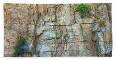 Beach Towel featuring the photograph St Vrain Canyon Wall by James BO Insogna