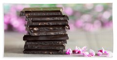 Stack Of Chocolate Beach Towel