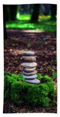 Beach Sheet featuring the photograph Stacked Stones And Fairy Tales Iv by Marco Oliveira