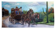 Stagecoach Beach Towel by Catherine Swerediuk