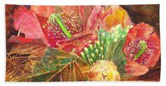 Staghorn In Bloom Beach Towel