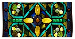 Stained Glass 1 Beach Towel
