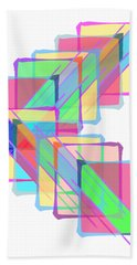 Beach Towel featuring the digital art Stained Glass by Bee-Bee Deigner