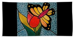 Stained Glass Duo Beach Towel