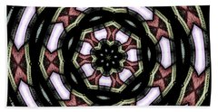 Beach Towel featuring the photograph Stained Glass Kaleidoscope 12 by Rose Santuci-Sofranko