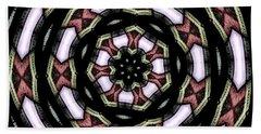 Stained Glass Kaleidoscope 12 Beach Towel by Rose Santuci-Sofranko