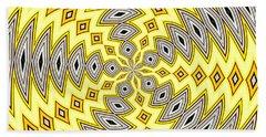Stained Glass Kaleidoscope 18 Beach Towel by Rose Santuci-Sofranko