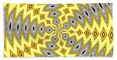 Stained Glass Kaleidoscope 18 Beach Sheet by Rose Santuci-Sofranko