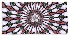 Beach Towel featuring the photograph Stained Glass Kaleidoscope 2 by Rose Santuci-Sofranko