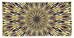 Stained Glass Kaleidoscope 22 Beach Sheet by Rose Santuci-Sofranko