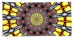 Stained Glass Kaleidoscope 23 Beach Towel by Rose Santuci-Sofranko