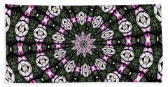 Beach Towel featuring the photograph Stained Glass Kaleidoscope 3 by Rose Santuci-Sofranko