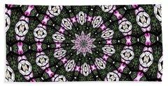 Stained Glass Kaleidoscope 3 Beach Towel by Rose Santuci-Sofranko