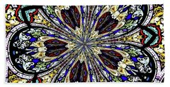 Stained Glass Kaleidoscope 38 Beach Towel