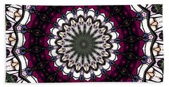 Beach Towel featuring the photograph Stained Glass Kaleidoscope 4 by Rose Santuci-Sofranko