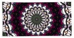 Stained Glass Kaleidoscope 4 Beach Towel by Rose Santuci-Sofranko