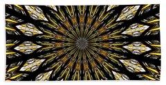 Stained Glass Kaleidoscope 5 Beach Towel by Rose Santuci-Sofranko