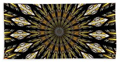 Stained Glass Kaleidoscope 5 Beach Sheet by Rose Santuci-Sofranko