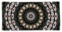 Beach Towel featuring the photograph Stained Glass Kaleidoscope 6 by Rose Santuci-Sofranko