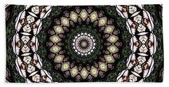 Stained Glass Kaleidoscope 6 Beach Towel by Rose Santuci-Sofranko