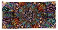 Stained Glass Mandala Beach Sheet