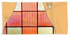 Stained Glass Pear Beach Towel