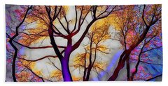 Stained Glass Sunrise Beach Towel