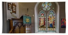 Beach Towel featuring the photograph Stained Glass Uk by Adrian Evans