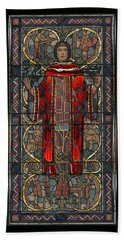 Stained Glass Window 1928 - Remastered Beach Towel
