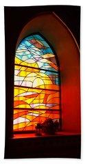 Stained Glass Window Beach Sheet