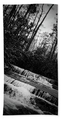 Beach Towel featuring the photograph Stair Step Falls At Table Rock State Park by Kelly Hazel